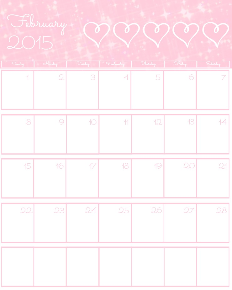 Free 2015 Printable Calendar February via www.thebearfootbaker.com