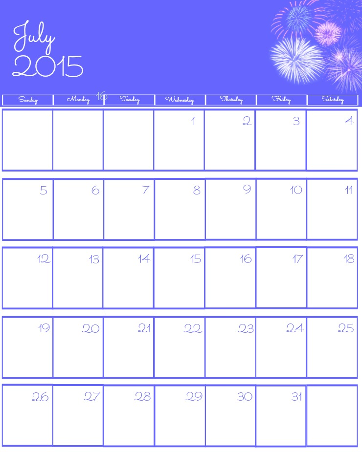 File Name : Free-2015-Printable-Calendar-July-via-www.thebearfootbaker ...