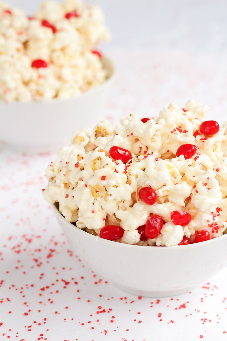 Popcorn Candy Recipe - This stuff is so addictive it should come with a warning label! via thebearfootbaker.com