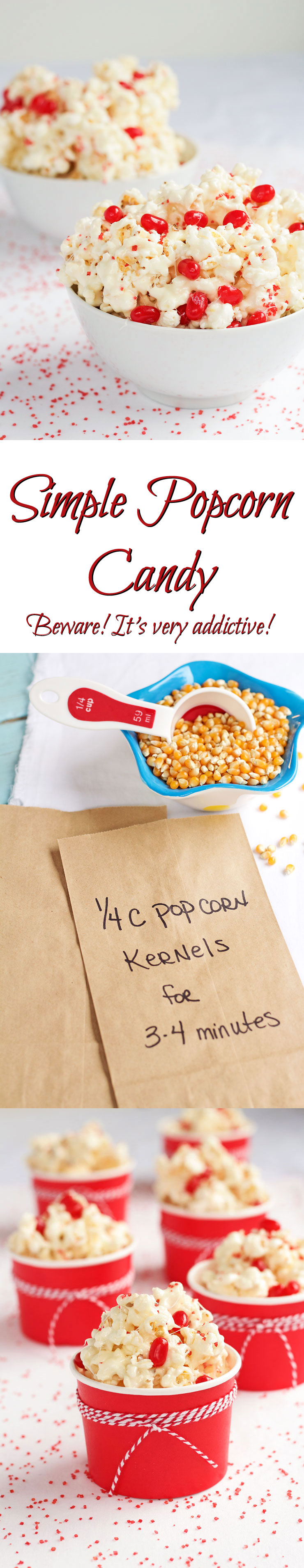 Popcorn Candy Recipe - This stuff is so addictive it should really come with a warning label! www thebearfootbaker.com