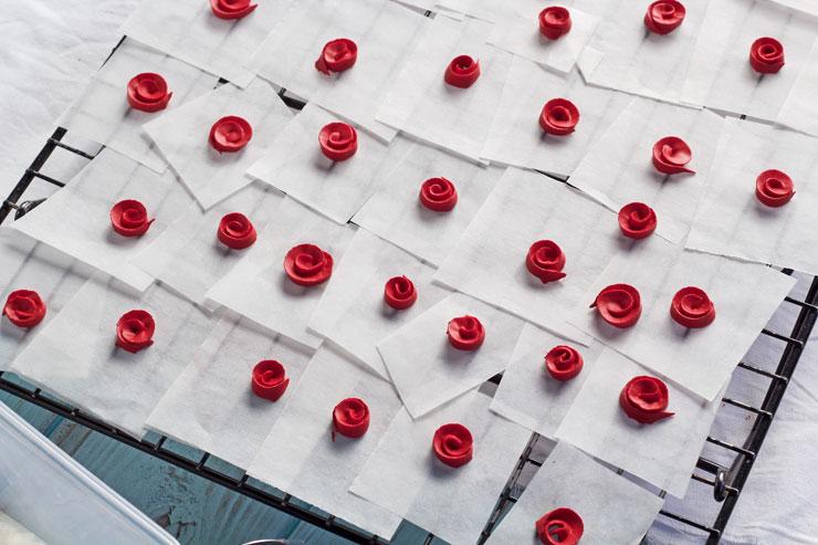 Ribbon Rose Video Tutorial www.thebearfootbaker.com