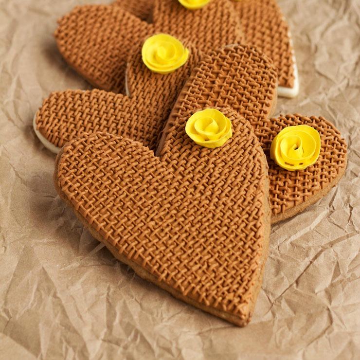 Burlap Heart Cookies