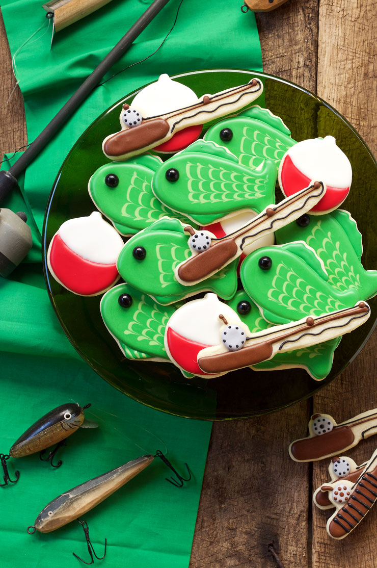 Simple Fishing Cookies