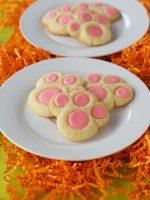 Bunny Paw Thumbprint Cookies via thebearfootbaker.com.