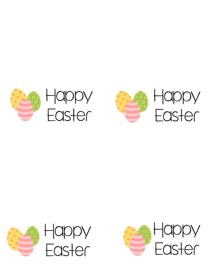 Happy Easter Tag - Easter Cookie Card via www.thebearfootbaker.com