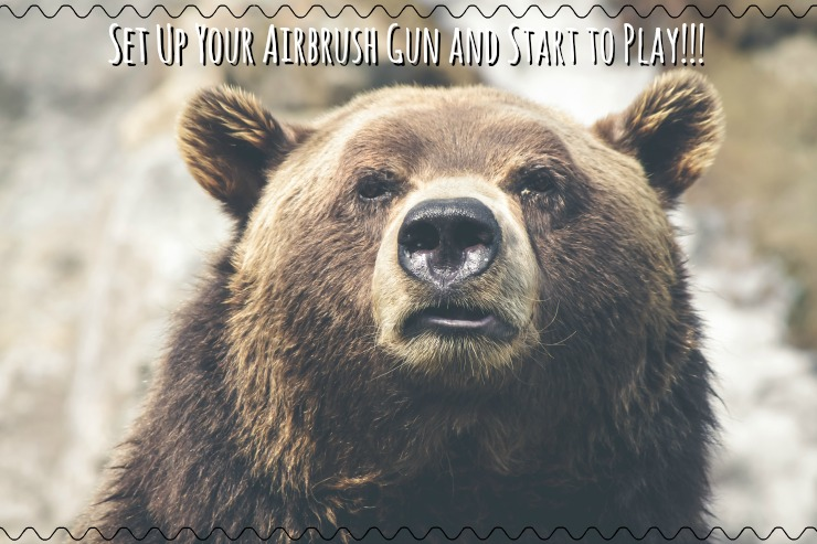 Set up your airbrush gun and use it! www.thebearfootbaker.com