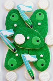 Simple Golf Cookies-Simple Sugar Cookies Decorated with Royal Icing via www.thebearfootbaker.com