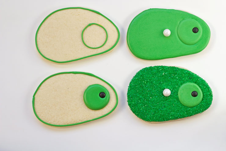 Simple Golf Cookies-Simple Sugar Cookies Decorated with Royal Icing www.thebearfootbaker.com