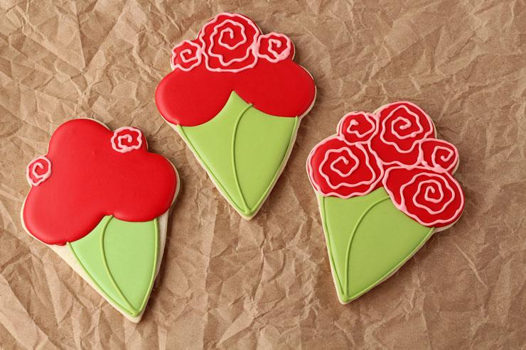 Flower Bouquet Cookies | The Bearfoot Baker