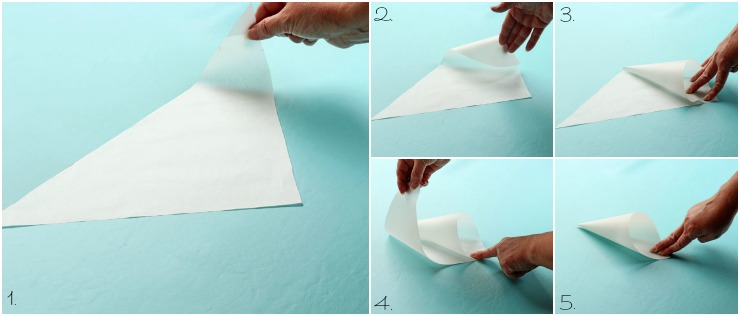 How to Make Parchment Paper Cones Video with www.thebearfootbaker.com