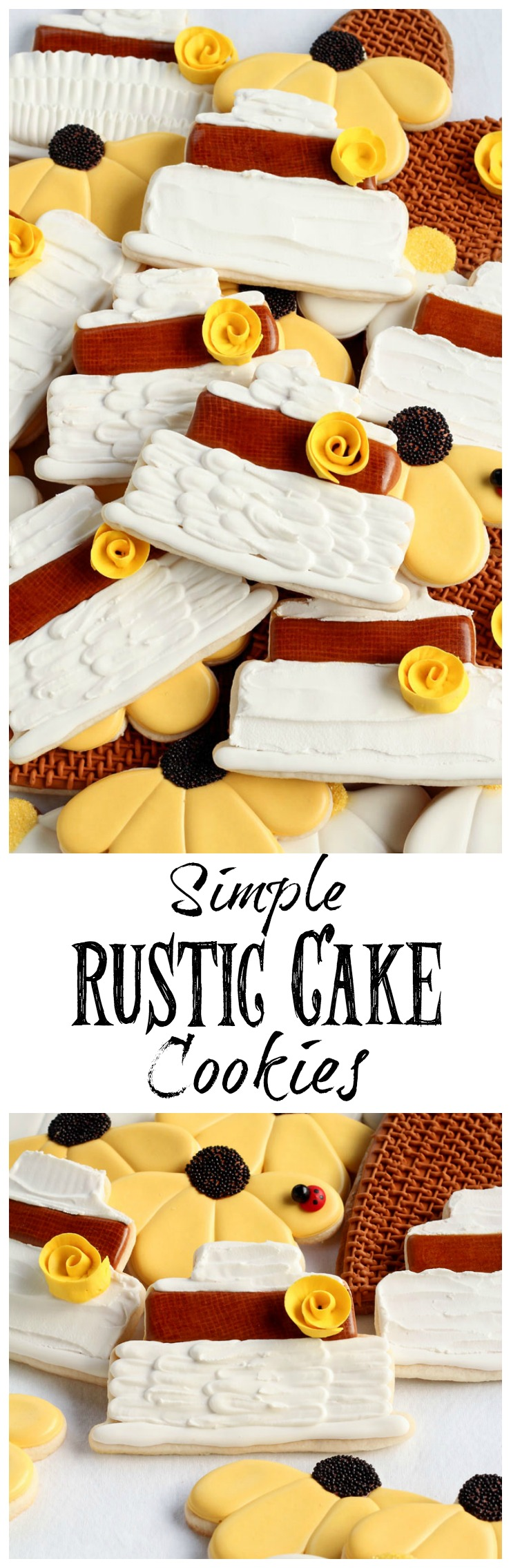 How to Make Rustic Cake Cookies via www.thebearfootbaker.com