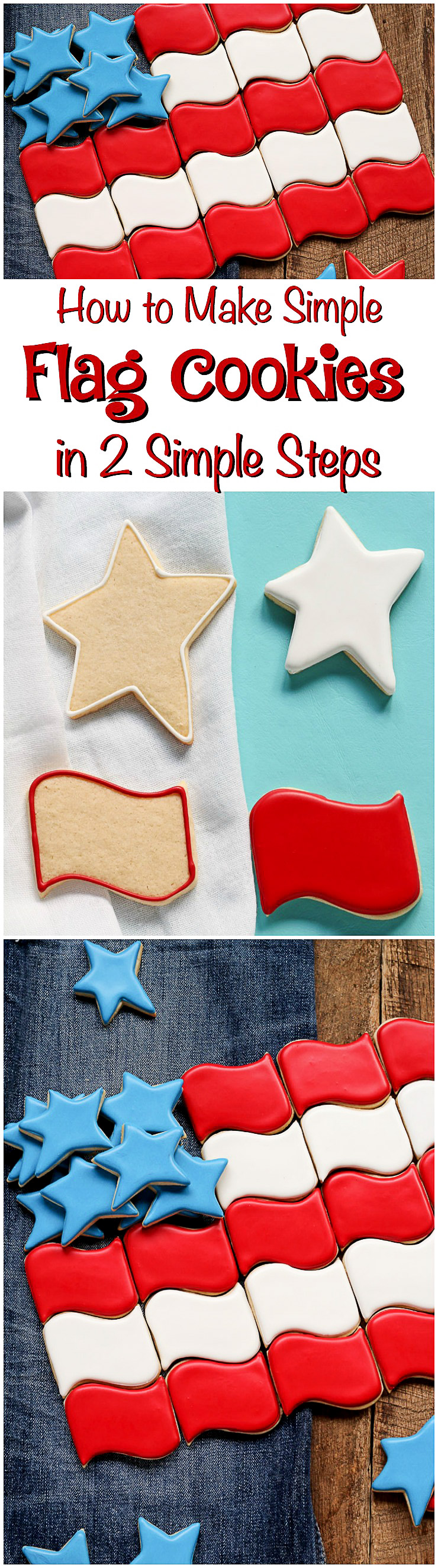 How to Make Simple Flag Cookies with 2 Easy Steps | The Bearfoot Baker