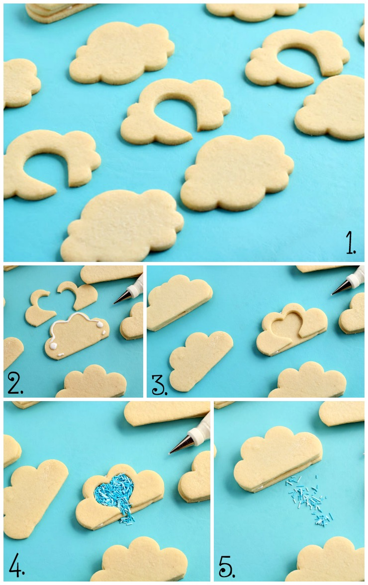 How to Make Cloud Cookies that Actually Rain by www.thebearfootbaker.com