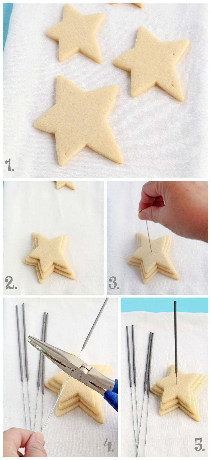 How to make Simple Star Cookies that Actually Sparkle via www.thebearfootbaker.com