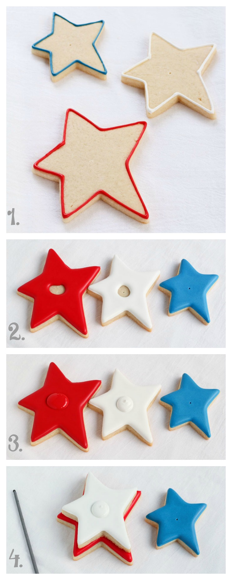 How to make These Simple Star Cookies that Actually Sparkle via www.thebearfootbaker.com
