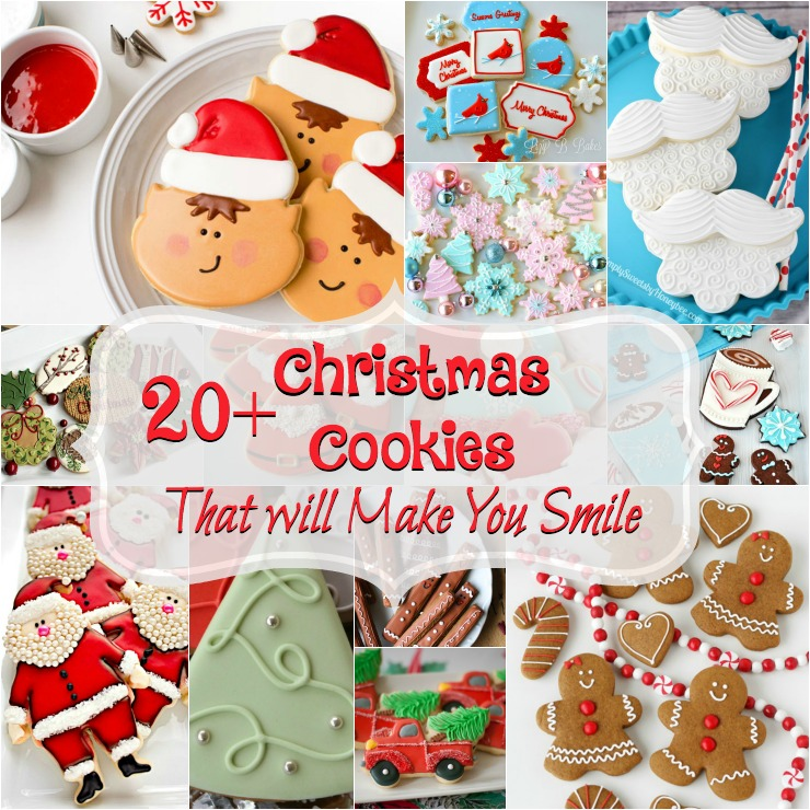 Awesome Christmas Cookies that Will Make You Smile www.thebearfootbaker.com