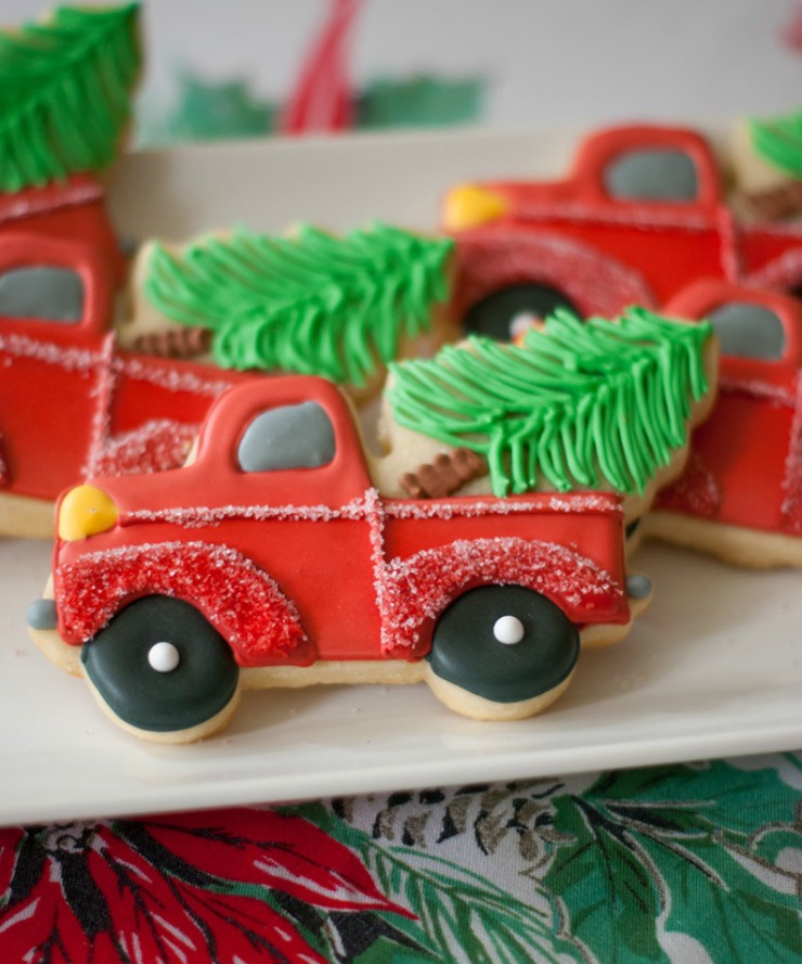 Christmas Truck Cookies-Beep BeepIt's Christmas by Bake at 350