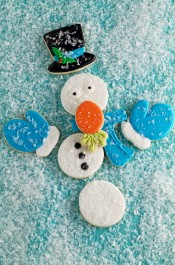 How to Make Simple Snowman Cookies that Need Help www.thebearfootbaker.com