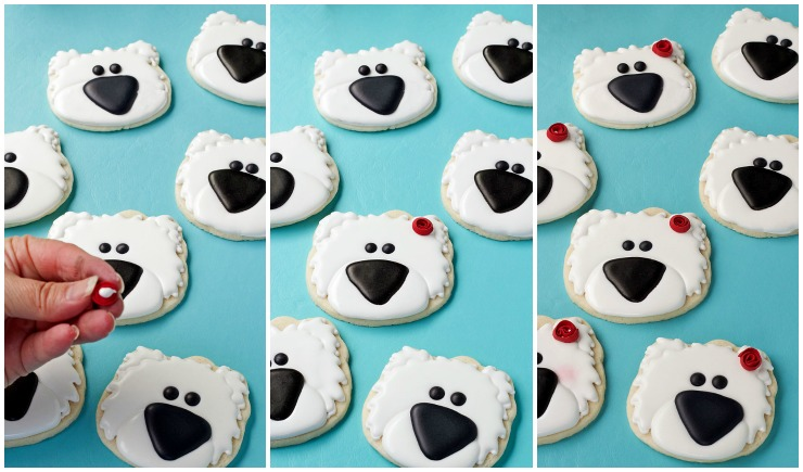 How to Make These Simple Polar Bear Cookies and Video with www.thebearfootbaker.com