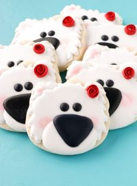 polar bear cookies, decorated cookies, decorated sugar cookies, royal icing