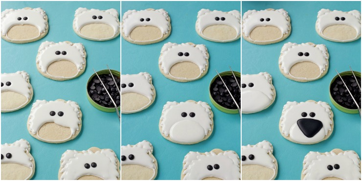 How to Make These Simple Polar Bear Cookies with Video with www.thebearfootbaker.com