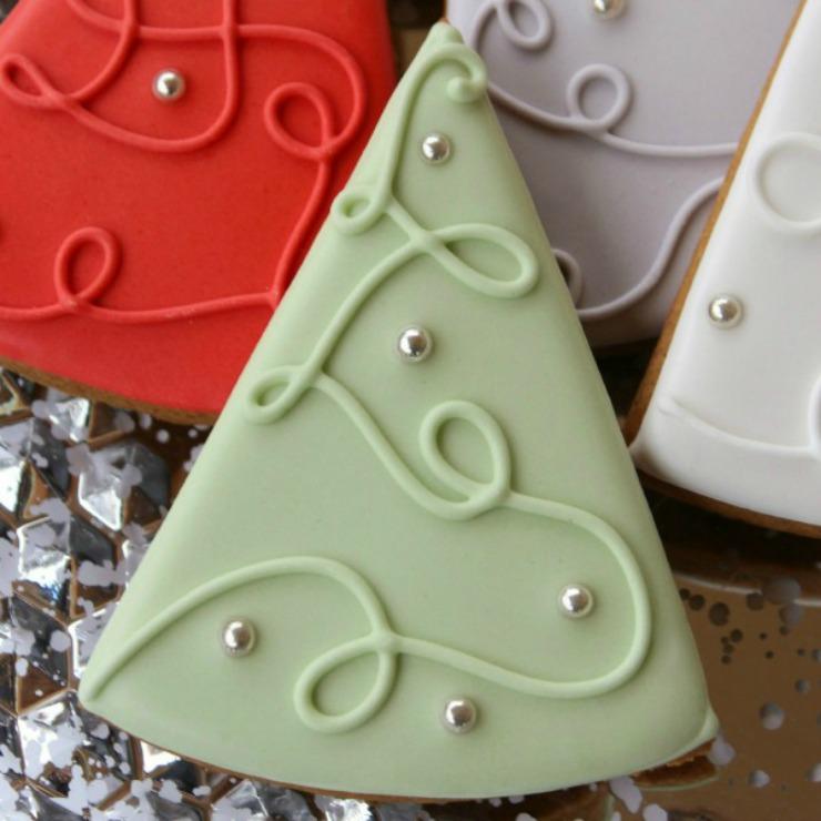 Simple Christmas Tree Cookies by Sweet Sugar Belle
