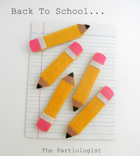 Back to School Cookie Round-Up - Pencil Cookies by Kim Heimbuck