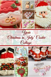 Christmas in July Cookie Collage-A Fun New Tradition Featuring YOUR Cookies via www.thebearfootbaker.co,