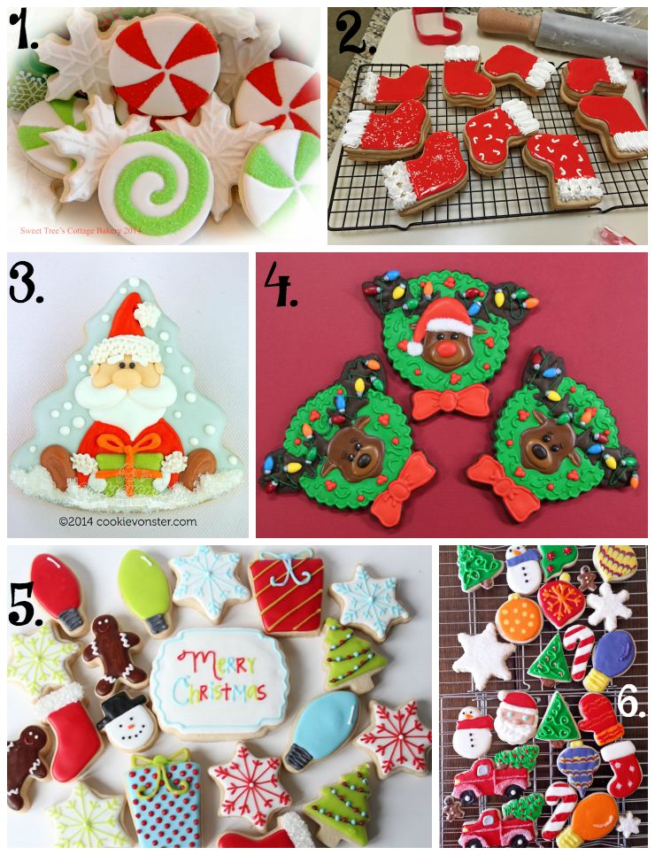 Christmas in July Cookie Collage-A Fun New Tradition Using Your Cookies by www.thebearfootbaker.com