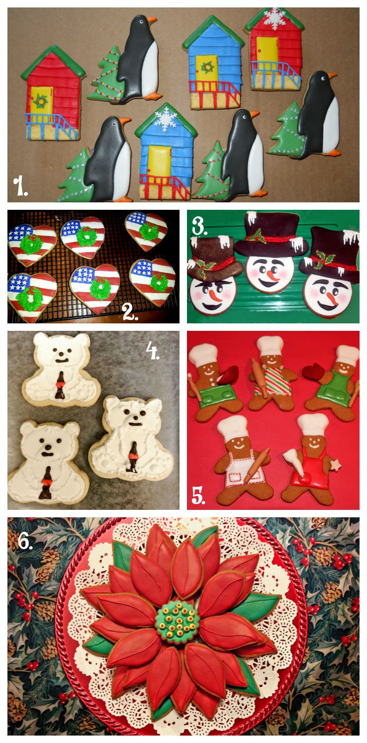 Christmas in July Cookie Collage-A Fun New Tradition Using Your Cookies www.thebearfootbaker.com