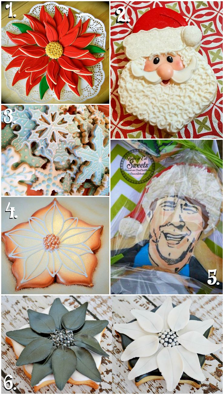 Christmas in July Cookie Collage-A Fun New Tradition with www.thebearfootbaker.com