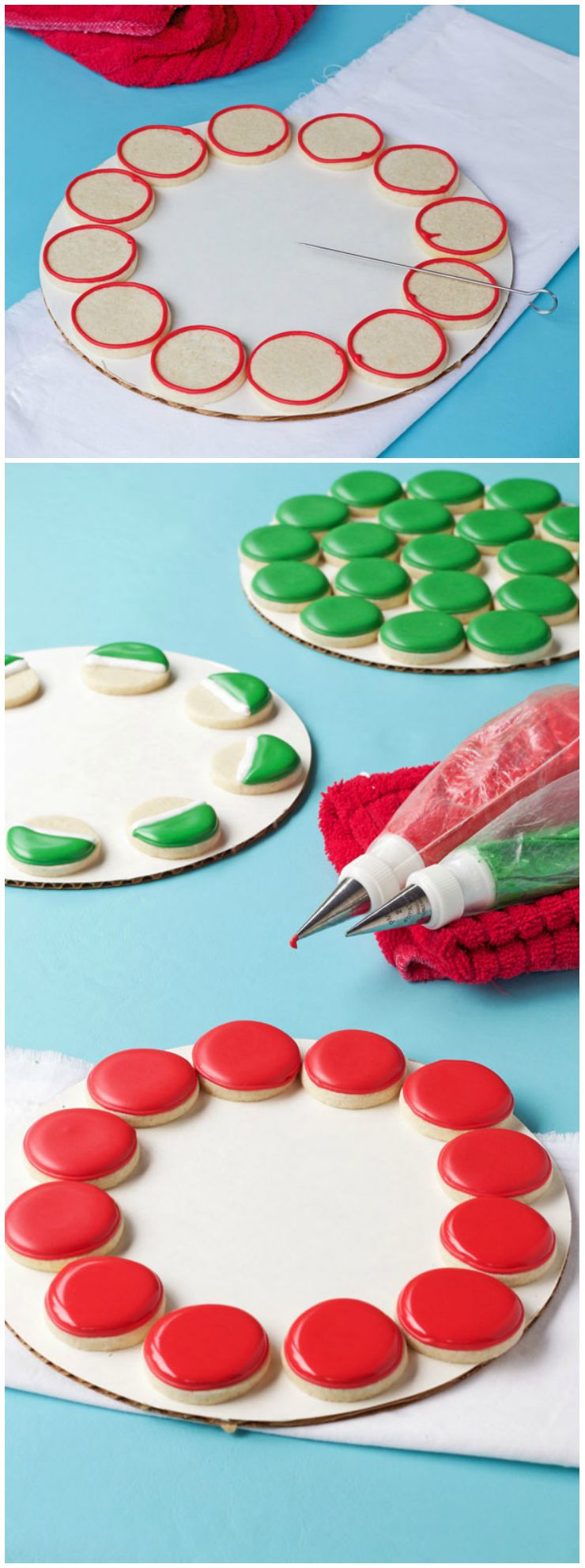 How to Make a Simple Watermelon Cookie Platter with a Video via thebearfootbaker.com