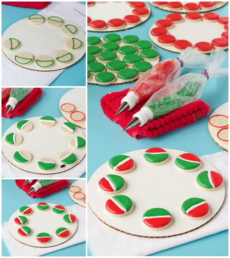 How to Make a Simple Watermelon Cookie Platter with a Video via www.thebearfootbaker.com