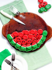 How to Make a Watermelon Cookie Platter with Video via www.thebearfootbaker.com