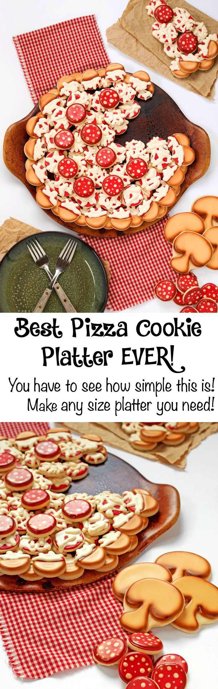 Pizza Cookie Platter via www.thebearfootbaker.com