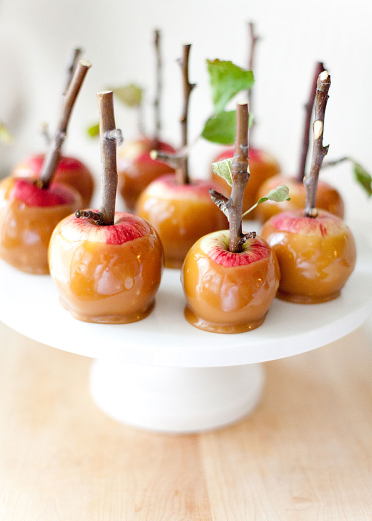 Twig Mini Caramel Apples by Allyson Baker Design