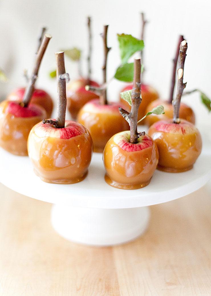 Twig Mini Caramel Apples by Allyson Baker Design