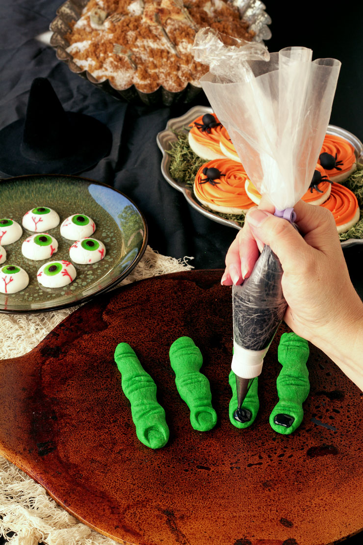 Frightening Halloween Finger Cookies | The Bearfoot Baker
