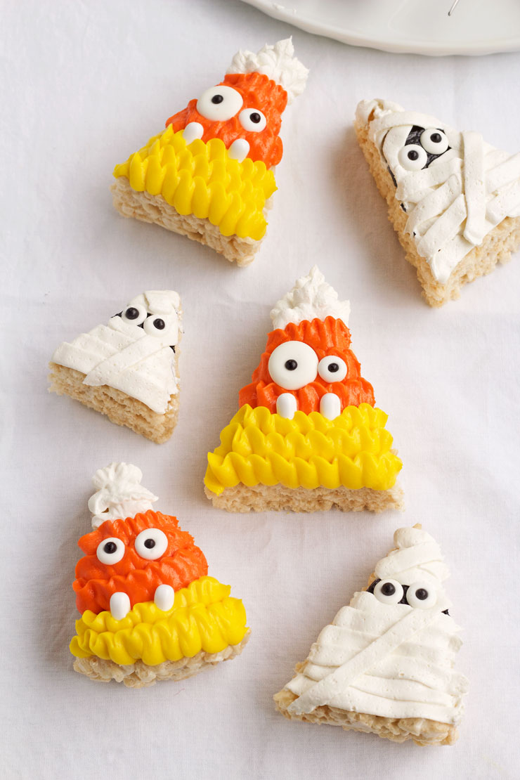 halloween rice krispie treats the bearfoot baker