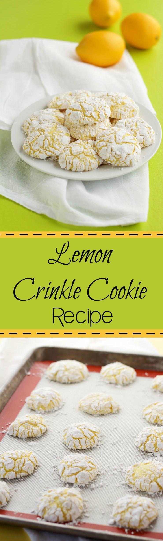 Lemon Crinkle Cookie Recipe   The Bearfoot Baker
