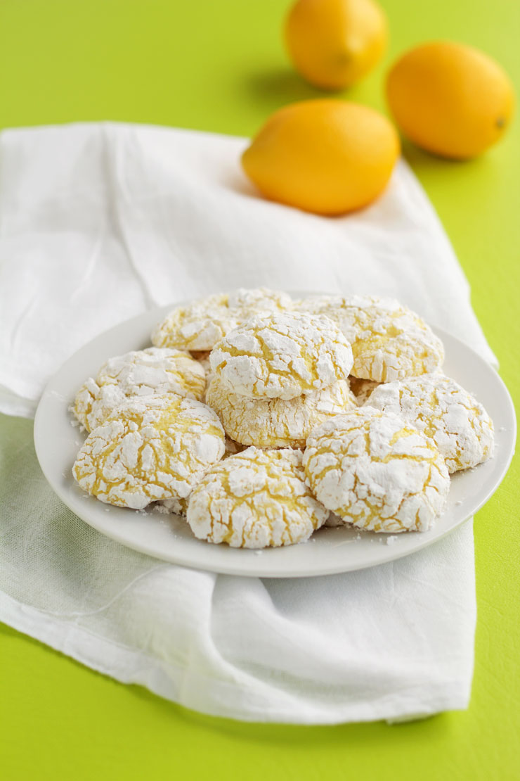 Lemon Crinkle Cookies | The Bearfoot Baker