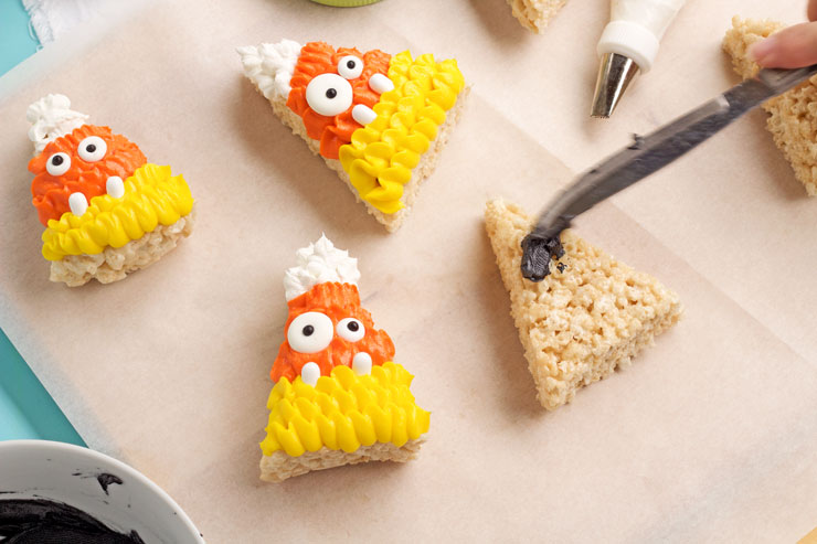 silly halloween rice krispie treats the bearfoot baker