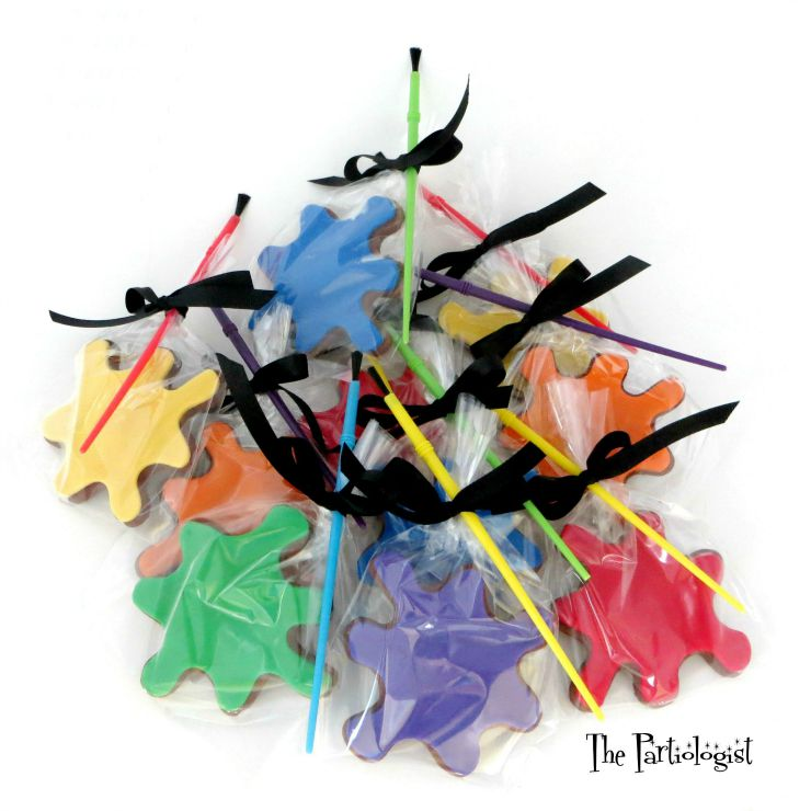 Back to School Cookie Round Up - Paint Splatter Cookies by Kim Heimbuck | The Bearfoot Baker