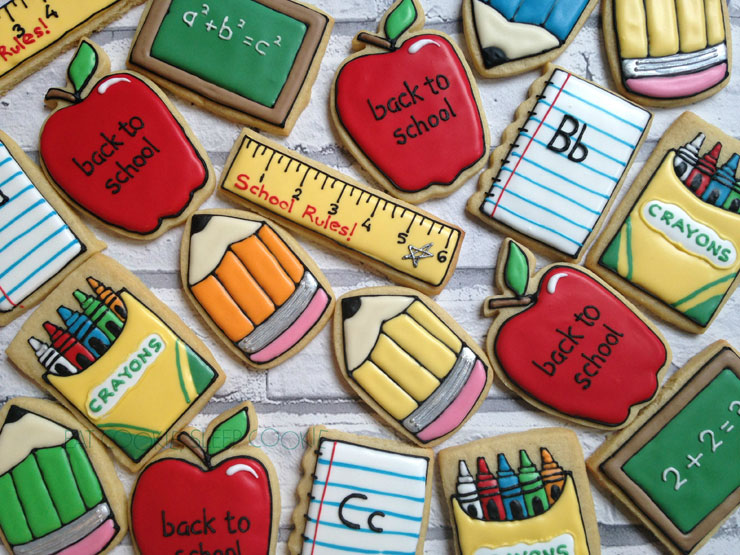 Back to School Cookies by Eat Cookies Sleep Cookies