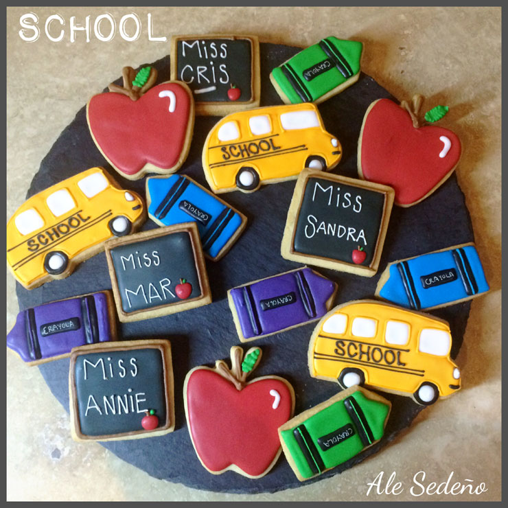 Back to School Round Up - Back to School Cookies by Ale Sedeno Bakery Shop | The Bearfoot Baker