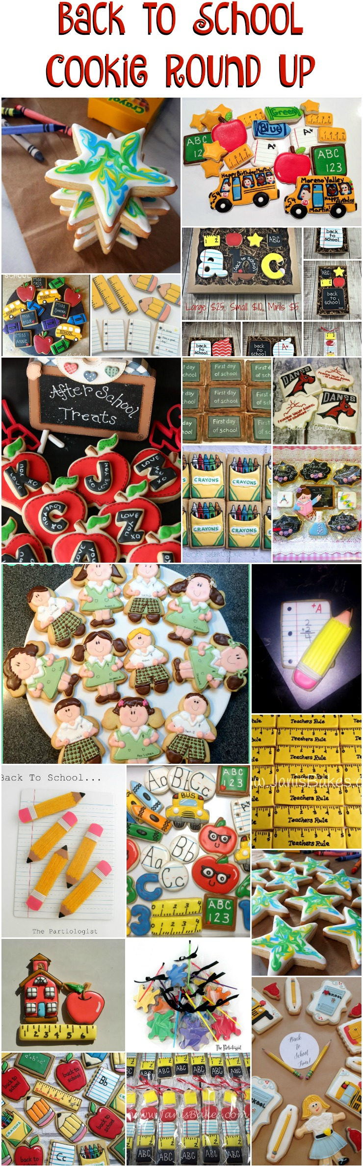 Back to School Round Up - Cookies that will get you an A+ | The Bearfoot Baker