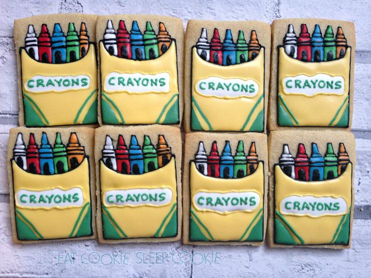 Back to School Round Up - Crayon Cookies by Eat Cookies Sleep Cookies | The Bearfoot Baker