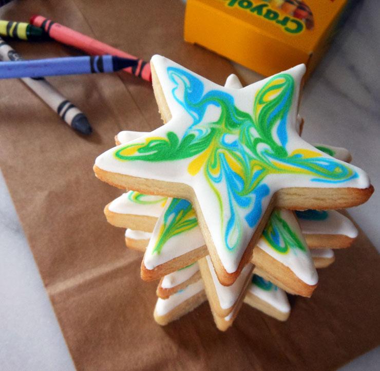 Back to School Round Up - Cute Tie Dye Star Cookies Goodbye Kindergarten by My Cookie Clinic | The Bearfoot Baker