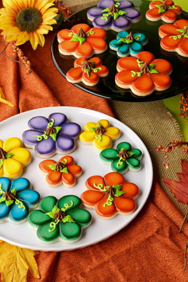 Colorful Pumpkin Cookies   The Bearfoot Baker