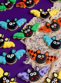 Cute Bat Cookies with Stenciled Wings | The Bearfoot Baker